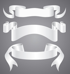 White paper ribbons vector
