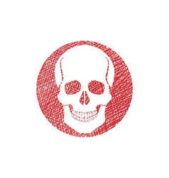 Scull icon with hand drawn lines texture vector