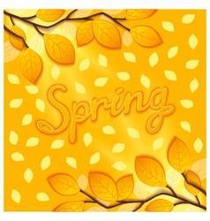 Sunny spring design vector