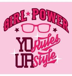 Girl power t-shirt design vector