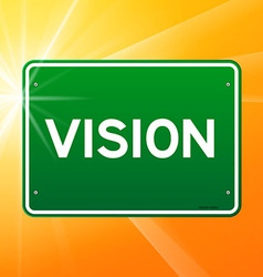 Vision green sign vector