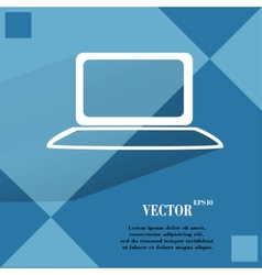Notebook flat modern web button on a flat vector