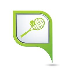Tennis green pointer vector