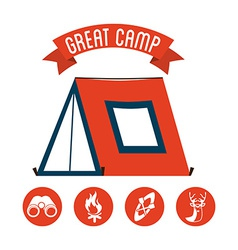 Great camp vector