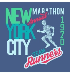 New york city marathon vector