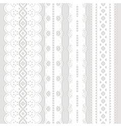 Four white ribbons vector