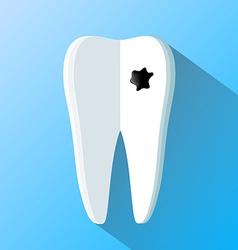 Human tooth as a notepad flat design vector