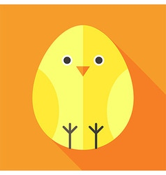 Yellow chick egg shaped vector
