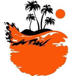 Landscape of tropical banner vector