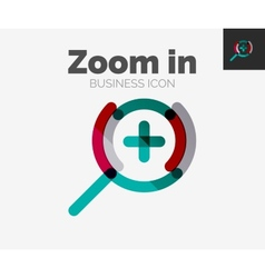 Minimal line design logo zoom icon vector
