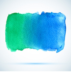 Watercolor green and blue background banner vector