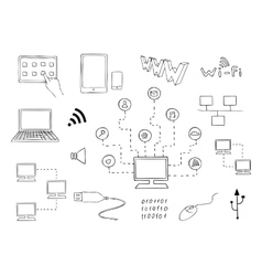 Computer technologies and internet communication vector