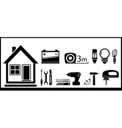 Set tools for home work vector