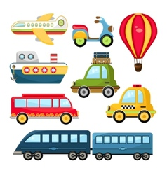 Cute transportation vector