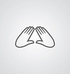 Massage outline symbol dark on white background vector
