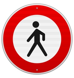 Entrance forbidden sign vector