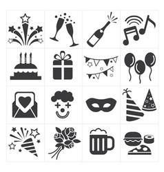 Icon party celebrate vector