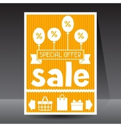 Sale and shopping flyer advertising poster design vector
