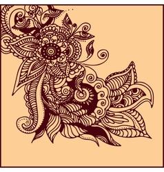 Tattoo henna vector
