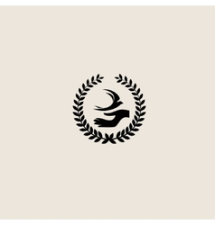 Swallow bird abstract logo design template vector