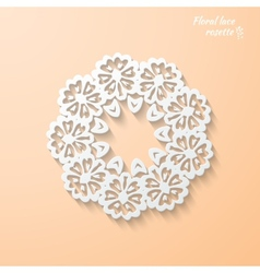 Snowflake flower folk style vector