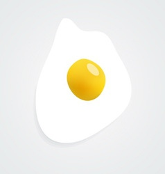 Fried egg icon image contains a gradient mesh vector