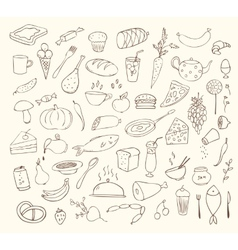 Food and cooking set vector