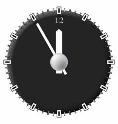 Office clock techno style vector