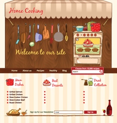 Home cooking web template vector