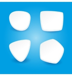 Set of 4 stickers on a blue background vector
