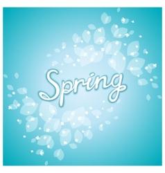 Spring awakening poster vector