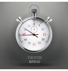 Background with analog stopwatch vector