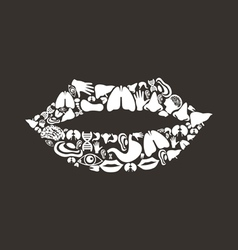 Mouth body vector