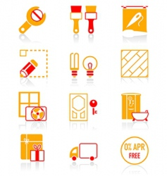 Home repair icons vector
