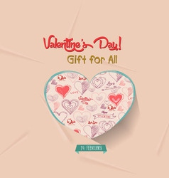 Happy valentines day greeting card gift for all vector