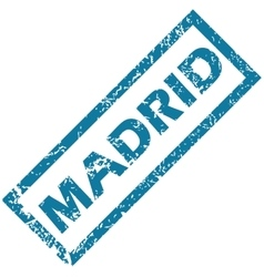 Madrid rubber stamp vector
