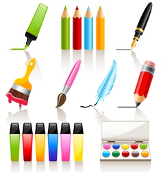 Drawing and painting tools vector