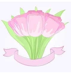 Hand drawing tulips vector