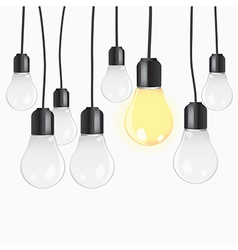 Idea concept with light bulbs vector