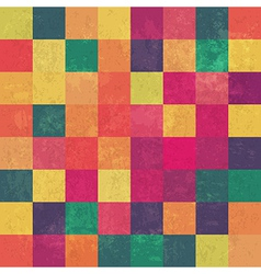 Retro colored squares pattern seamless vector