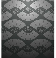 Chinese fan seamless pattern vector