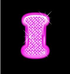 I letter pink bling girly vector