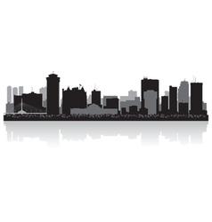 Winnipeg canada city skyline silhouette vector