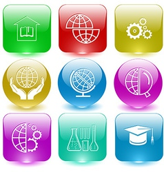 Library shift globe protection world globe and vector