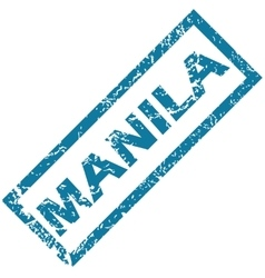 Manila rubber stamp vector