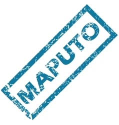 Maputo rubber stamp vector