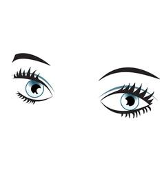 Blue eyes isolated vector