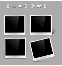 Photos with realistic shadow effects vector