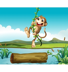 A monkey swinging vector