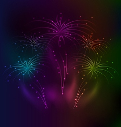 Awesome salute background with light effect vector